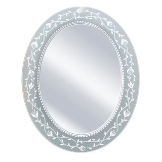 Headwest Fushcia Oval Wall Mirror
