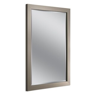 Headwest Modern Brush Nickel Wall Mirror