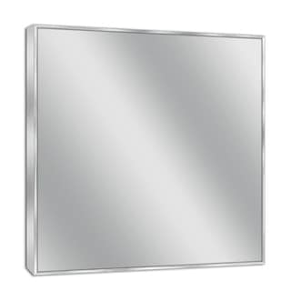 Headwest Spectrum Brush Nickel Wall Mirror - Brushed Nickel - 30 X 36