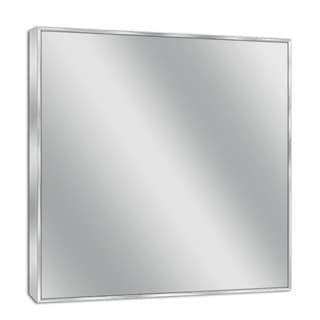 Headwest Spectrum Silver Stainless Steel Brushed Nickel Wall Mirror