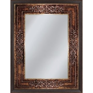 Headwest Genoa Rectangle Wall Mirror - Bronze/Black - 27 X 33