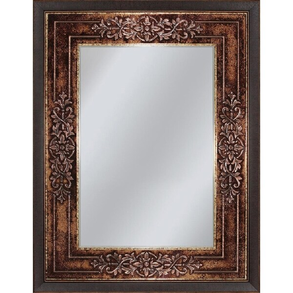 Headwest Genoa Rectangle Wall Mirror - Bronze/Black - 27 X 33