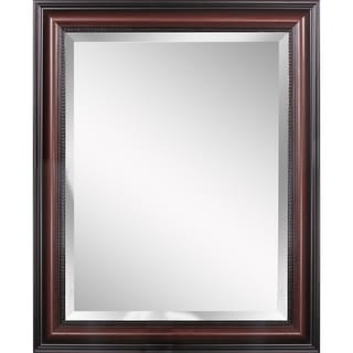 Headwest Traditional Cherry Wall Mirror - Brown/Cherry - 28 X 34