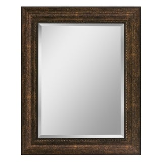 Headwest Bronze Copper Beaded Finish Wall Mirror