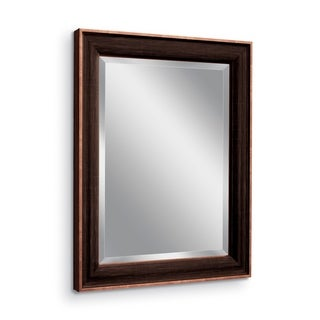 Headwest Rubbed Bronze Wall Mirror - 27.5 x 33.5