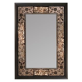 Headwest Bronze French Tile Rectangle Wall Mirror