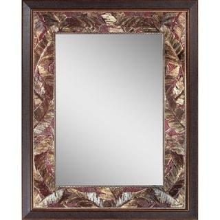 Headwest Tropical Leaf Wall Mirror - Bronze - 27 x 35