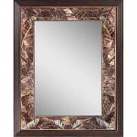 Headwest Tropical Leaf Wall Mirror - Bronze - 27 x 35