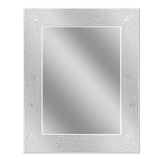 Headwest Crystal Mosaic Etched Wall Mirror - Off White - 24 X 30