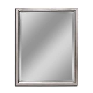 Headwest Classic Brush Nickel Chrome Wall Mirror - Brushed Nickel - 24 X 30