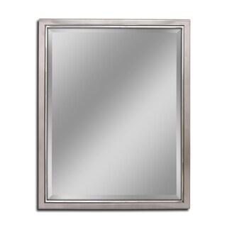 Headwest Classic Brush Nickel Chrome Wall Mirror