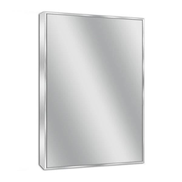 Headwest Spectrum Brush Nickel Wall Mirror - Brushed Nickel - 24 X 30