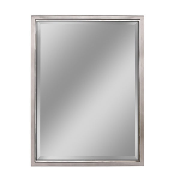 Headwest Classic Brush Nickel Chrome Wall Mirror - Brushed Nickel - 30 X 40
