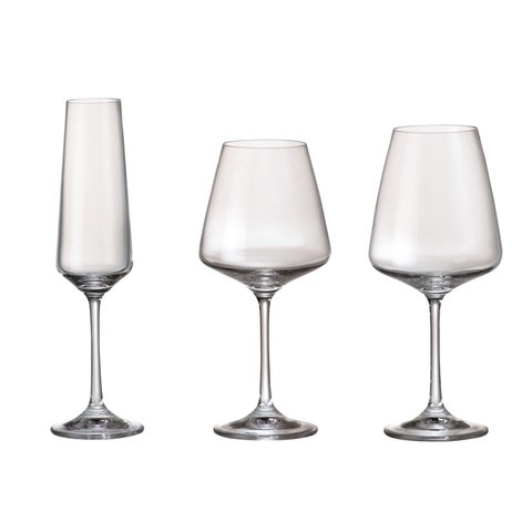 Red Vanilla Naomi Crystal glass (Set of 18)
