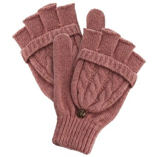 Winter Cableknit Gloves - Pink