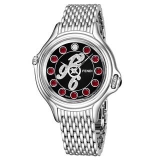 Fendi Women's F105031000D1T03 'Crazy Carats' Black Diamond Dial Stainless Steel Swiss Quartz Watch