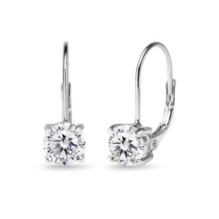 Link to ICZ Stonez Sterling Silver 6mm Leverback Earrings Created with Swarovski Zirconia Similar Items in Earrings