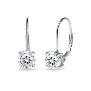 ICZ Stonez Sterling Silver 6mm Leverback Earrings Created with Swarovski Zirconia