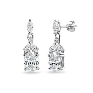 ICZ Stonez Sterling Silver Oval Dangle Earrings Created with Swarovski Zirconia|https://ak1.ostkcdn.com/images/products/18506366/P24619105.jpg?_ostk_perf_=percv&impolicy=medium