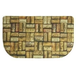 "Printed memory foam Wine Corks kitchen rug by Bacova - 1'6"" x 2'6"""