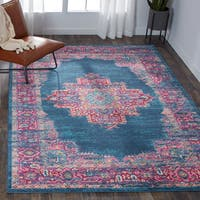 Nourison Passion Blue Area Rug (8' x 10') - 8' x 10'
