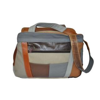 AFONiE 3 Compartment Leather Hobo Bag