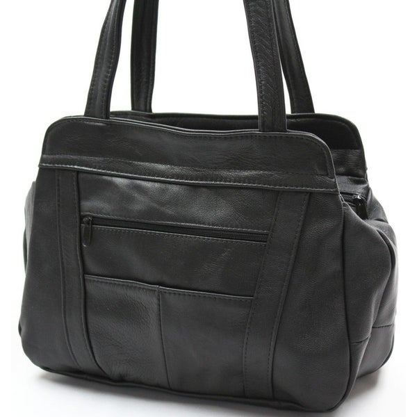 9911b69564 Shop AFONiE 3 Compartment Leather Hobo Bag - On Sale - Free Shipping ...