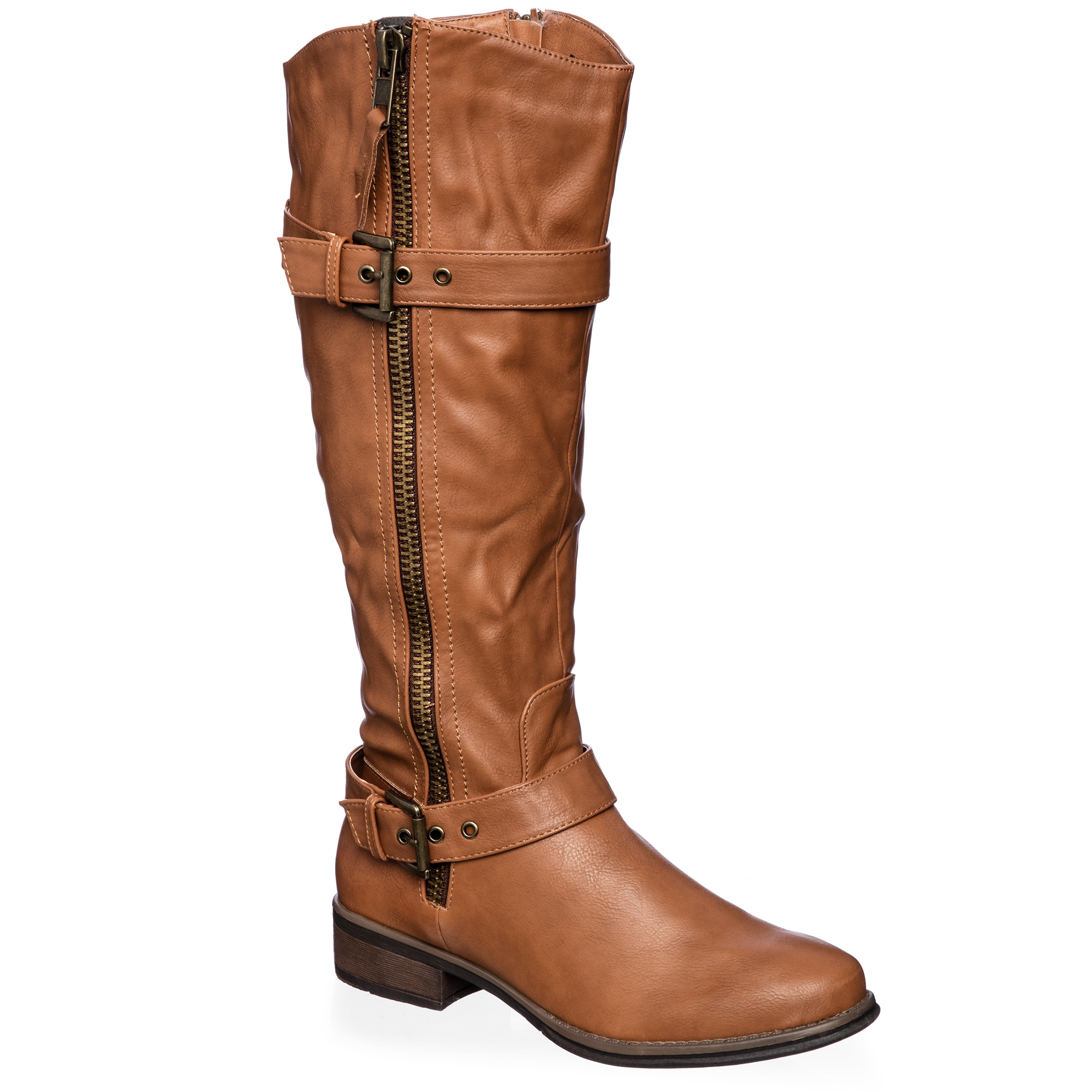 Anna Clogs Women's Riding Knee High Boots Size 8.5 in Bro...
