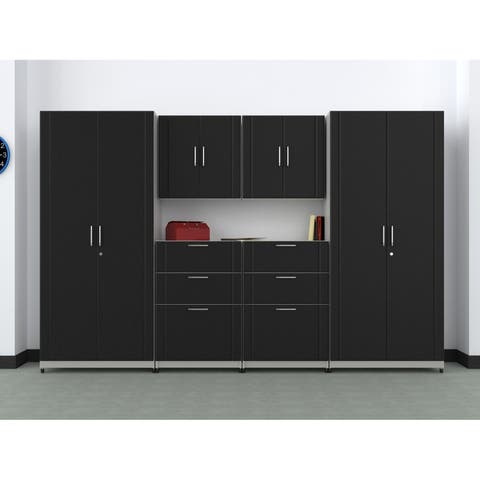 "ClosetMaid 112"" W 6-Piece Garage Storage Cabinet Set"