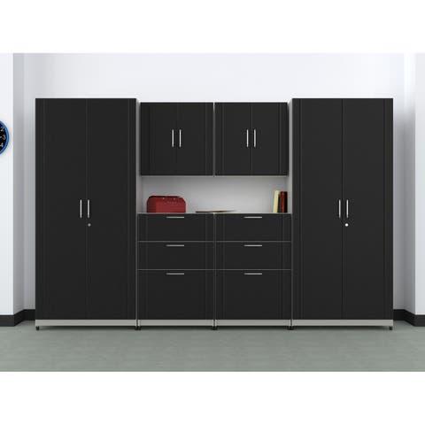 """ClosetMaid 112"""" W 6-Piece Garage Storage Cabinet Set"""