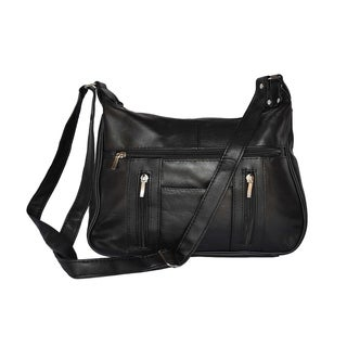 AFONiE Classic Old School Leather Shoulder Handbag