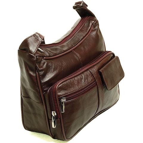 AFONiE Genuine Leather Shoulder Or Crossbody Handbag by  No Copoun