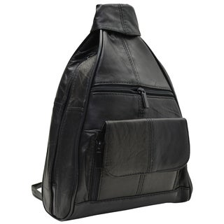 AFONiE Travel Soft Leather Backpack Style