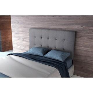 Porch & Den Huckleberry Grey Upholstered Full Headboard Gray