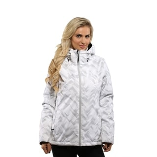 Pulse Women's White Geo Ski/Snowboard Jacket