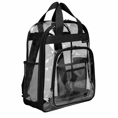 U.S. Traveler Clear School Backpack w/Top Handle, Straps and Multiple Pockets