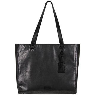"Kenneth Cole Reaction Metallic Faux Leather Women's 15-Inch Laptop Business Tote - 9'6"" x 13'6"""