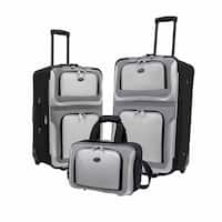 U.S. Traveler's New Yorker 3 Piece Rolling Softside Luggage Set