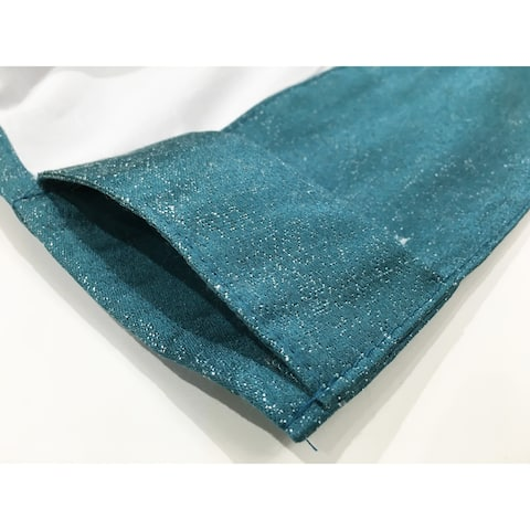 """Soho Rod Pocket Window Curtain Panels with Thermal Lining, Set of 2, 84""""x76"""", Teal"""