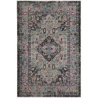 Safavieh Artisan Vintage Bohemian Light Grey/ Black Rug - 3'3 x 5'3