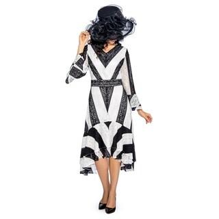 Giovanna Signature Women's Color Block High-Low Lace Dress