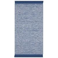 Safavieh Hand-Woven Montauk Blue Cotton Rug (3' x 5')