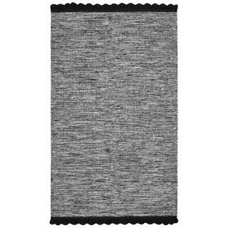 Safavieh Hand-Woven Montauk Black Cotton Rug (3' x 5')