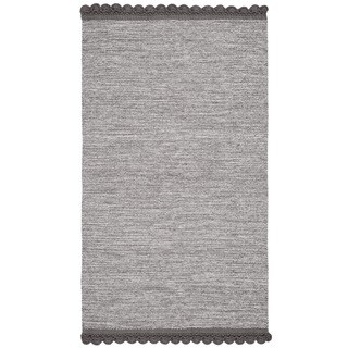 Safavieh Hand-Woven Montauk Charcoal Cotton Rug (3' x 5')