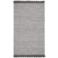 Safavieh Hand-Woven Montauk Charcoal Cotton Rug - 3' x 5'