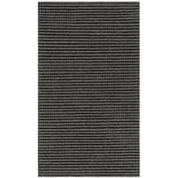Safavieh Hand-Woven Natura Grey/ Black Wool Rug - 3' x 5'