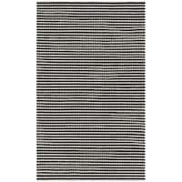 Safavieh Hand-Woven Natura Ivory/ Black Wool Rug - 3' x 5'