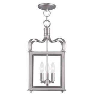 Livex Lighting Milford 2 Light Bronze Convertible Chain Hang/Ceiling Mount