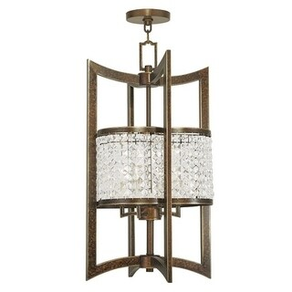 Livex Lighting Grammercy 4 Light Hand Painted Palacial Bronze Lantern