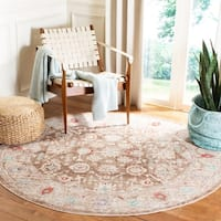 Safavieh Windsor Vintage Brown/ Ivory Cotton Rug - 3' x 5'